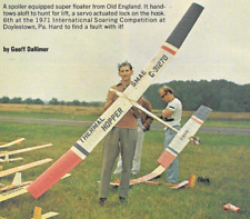 THERMAL HOPPER   Sailplane, Glider, 120 inch  WS RC AIrplane Prined Plans