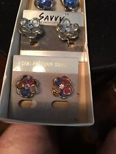 Swarovski /savvy Semi precious stone earrings