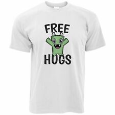 Festival T Shirt Free Hugs Slogan With Cute Monster Hippy Cuddles Love Art