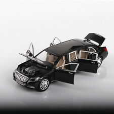 8 inch New 1:24 Maybach Benz S600 Alloy Diecast Model Car Toy Sound&Light Black
