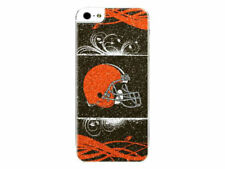 NFL CLEVELAND BROWNS MOBILE PHONE BLING iPHONE 5 / 5S APPLIQUE BAI5NF08 - NFL