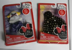 Lot of 2 Minnie Mouse Doll Fashion Packs Doll Clothes In Box Packaging