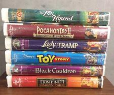 Lot Of 6 Walt Disney VHS Home Video Family Film New Sealed