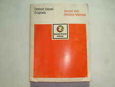 Detroit Diesel Series 149 Engines Factory Service Shop Overhaul Manual CLEAN '81