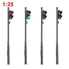 4pcs G Scale Model Traffic Signals Red/Green 1:25 Block Signal Traffic Lights