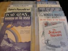 COLLECTIBLE LOT 66 OF PCS VINTAGE SHEET MUSIC EARLY1900'S and Mid Century - Nice