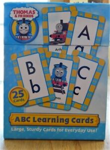 Thomas the Tank Engine LARGE ABC Learning Cards~A to Z Thick Educational EXC