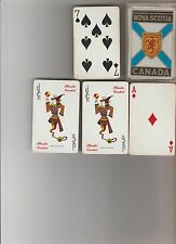 NOVA SCOTIA CANADA CREST PLAYING CARDS DECK 52/52 With JOKERS ~ NEVER PLAYED?