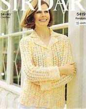 CROCHET CARDIGAN / 8ply or D.K.- COPY Ladies crochet pattern