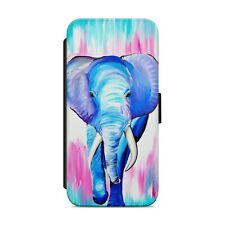 Painted Elephant WALLET FLIP PHONE CASE COVER FOR iPhone Samsung Huawei      225