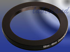 58mm-46mm 58-46 Filter Adaptor Ring Converts 58mm lens thread to 46mm Step-Down