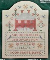 1987 NIP Elsa Williams Counted Cross Stitch Kit Ann Green Sampler 11x14 7648F