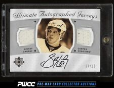 2008 Ultimate Collection Autographed Jersey Sidney Crosby AUTO PATCH /25 (PWCC)