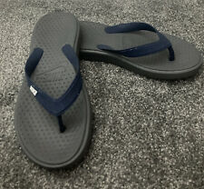 Nike Mens Flipflops Size 8 Grey Blue Used