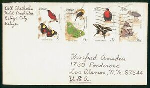 MayfairStamps Belize Combo 4 Birds & Butterfly's to Los Alamos New Mexico 1979 C