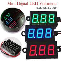 """Waterproof 0.56"""" DC 3.5-30V Mini Digital LED Voltmeter Volt Meter 12V Car Motor"""