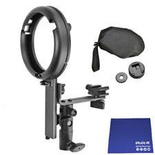 Fot-R L Monte Bowens S-Type Speedlite Soporte Para Flash Canon Nikon Gamuza Paño