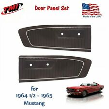 Black  Door Panel Set  1964 - 65 Mustang - in Stock for Immediate Shipment