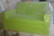 Divano due 2 posti Divanetto Verde mela tessuto ecopelle sofà poltrona relax
