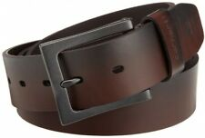 Carhartt Men's Anvil Belt Leather Brown Classic Vintage buckle metal finish 38in