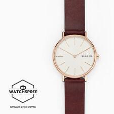 Skagen Ladies' Signatur Slim Red Leather Watch SKW8200