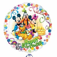 "18"" Round MICKEY MOUSE & FRIENDS Happy Birthday Foil Helium BALLOON Party"