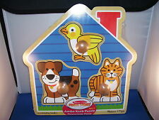 Childrens Puzzle Wooden Animal Shape Knobed Blocks 1 and up Melissa and Doug 7