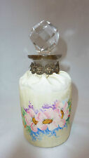Vintage Hand Painted Material Cologne Perfume Bottle