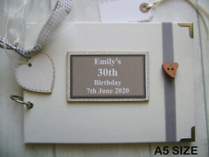 PERSONALISED 30TH birthday PHOTO ALBUM/SCRAPBOOK/MEMORY/GUEST BOOK a5 or a4 size