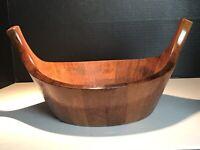 Dansk Quistgaard IHQ Staved Teak Wood Viking Bowl Danish Modern MCM #830