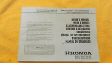 Honda radio cassette player 1997my Manual/Handbook