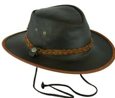 FREE DELIVERY Waterproof Australian Style Leather Cowboy Hat Western Dark Brown