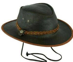 Real Leather Cowboy Hat Western Aussie Style Australian Cowboy hat