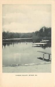 Georgia, GA, Byron, Vinson Valley 1940's Postcard