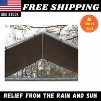 Outdoor Dog Kennel Cover Cage 10 x 10 ft Large Roof Pet House Steel Shade Fence