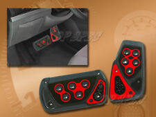 2PCS SET RED VOLTAGE AUTOMATIC BRAKE GAS RACING PEDAL PADS FOR CARS 1997-2001