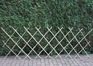 Bambus Scherengitter Bambuszaun Rankgitter bis 230cm lang