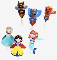 18pcs Batman Superman Princess Lollipop Decoration Kid Birthday Party Bag Filler