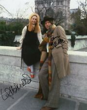 More details for doctor who autograph: tom baker & lalla ward (city of death) signed photo