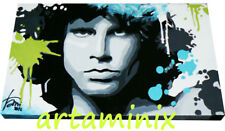 QUADRI MODERNI RITRATTO POP ART JIM MORRISON MUSIC DIPINTO IDEA REGALO ARTAMINIX