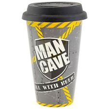 Mens Gents homme caverne céramique isotherme double paroi tasse voyage... remplir avec de la bière