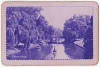 Playing Cards Single Card Old LNER Railway Train Advertising CAMBRIDGE 1 Purple