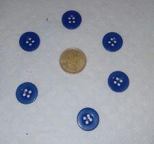 lot 6 boutons couleur bleu marine petits bouton NOUVEAU