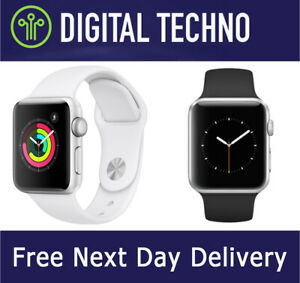 Apple Watch Series 3 - Silver 38mm Wi-Fi GPS Only iWatch + Sports Strap Band