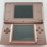 *Scuffed screen* Nintendo DS Lite Metallic Rose Handheld System with stylus