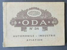 Catalogue publicité 1933 ACCESSOIRE ODA n°34 Automobile Aviation Citroën Berliet