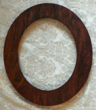 "Vintage 15"" x 17"" Oval Dark Wood OVAL Picture Frame Holds 10"" x 12"""