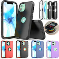 For iPhone 12 /12 Pro Max/11 Pro Max Case Hybrid Shockproof Armor Rubber Cover