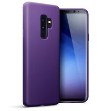 TPU Gel Silicone Rubber Thin Slim Case Matte Purple for Samsung Galaxy S9 Plus
