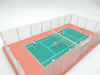 Model Tennis Court - Tennis Players and Court - OO HO 00 Railway Scenery -NEW GR